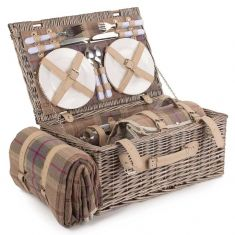 Balmoral Four Person Woven Willow Picnic Hamper