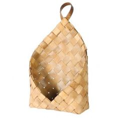 Woven Wood Wall Hanging Magazine Basket
