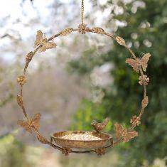 Round Hanging Butterfly Bird Feeder