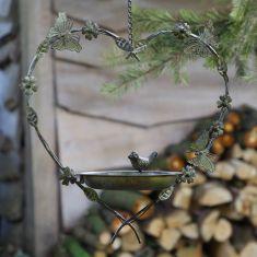 Butterfly Hanging Heart Bird Feeder