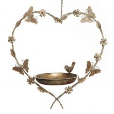 Butterfly Hanging Heart Bird Feeder