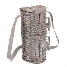 2 Person Wicker Bottle Cooler with Glasses