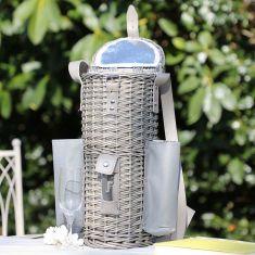 Wicker Champagne Bottle Picnic Cooler