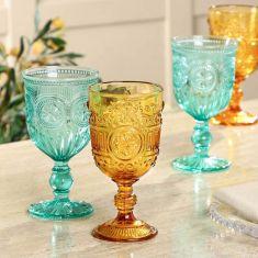 Set of 4 Autumn Jewels Wine Goblets