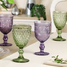 Summer Blooms Wine Goblet Collection