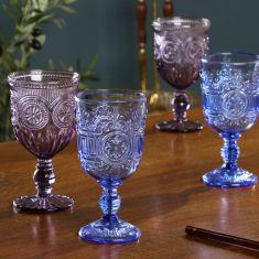 Set of 4 Moonlight Wine Glasses