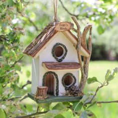 Personalised Alice White Two Storey Bird House