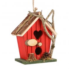 Robin Red Country Heart Bird House