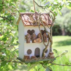 Personalised White Country Cottage Bird Hotel