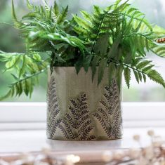 Fern Green Ceramic Houseplant Pot