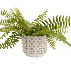 Diamond Print Ceramic Flower Pot Planter