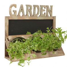 Reclaimed Wood Triple Herb Planter