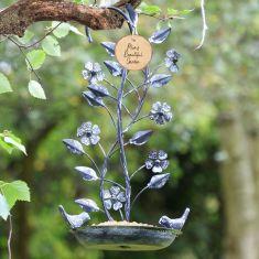 Ornate Hanging Bird Feeder Dish