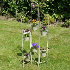 Folding Metal Frame Flower Pot Stand