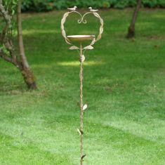 Heart Freestanding Garden Bird Dish