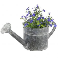 Rustic Grey Watering Can Planter