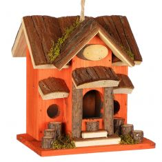 Sunset Lodge Wooden Birdhouse