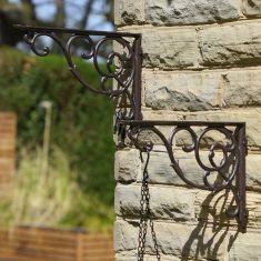 Giant Cast Iron Ornate Hanging Basket Bracket