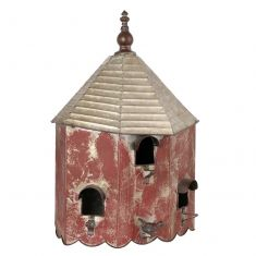 Shabby Chic Wall Mounted Large Tin Birdhouse