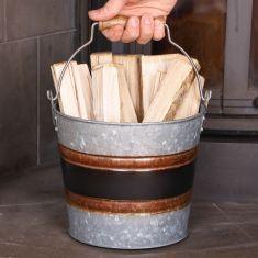 Black Band Fireside Kindling Bucket