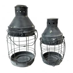Set of 2 Industrial Miner's Lanterns