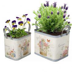 Set of 2 Cottage Garden Planters