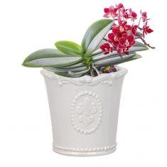 Vintage Ceramic Fleur De Lys Planter