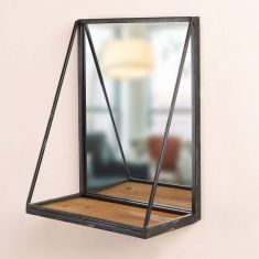 Contemporary Mirrored Wall Shelf