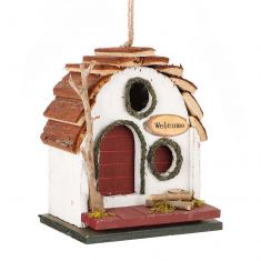 White Country Cottage Bird House