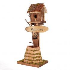 Freestanding Wishing Well Bird House