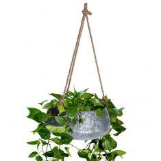 Galvanised Zinc Hanging Basket Planter