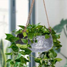 Vintage Zinc Hanging Basket Planter