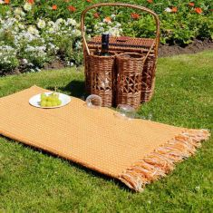 Mustard Cotton Blend Picnic Blanket