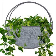 Zinc Round Wall Trough Planter