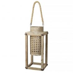 Wooden Outdoor Garden Table Lantern
