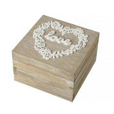 Natural Wooden Keepsake Trinket Box