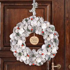 Personalised Red Velvet Wreath 16