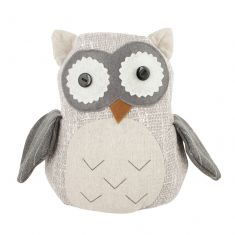 Rustic Fabric Owl Door Stop