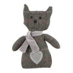 Grey Tweed Cat Doorstop