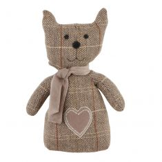 Brown Tweed Cat Doorstop
