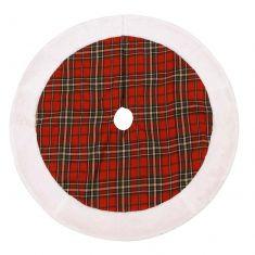 Snow Tips Highland Christmas Tree Skirt
