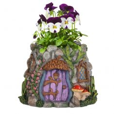 Fairy Garden Stone Flower Planter Pot