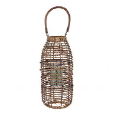 Natural Wicker Candle Lantern