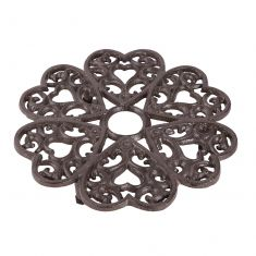 Extra Large Antique Brown Cast Iron Trivet