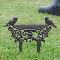 Love Birds Cast Iron Boot Scraper