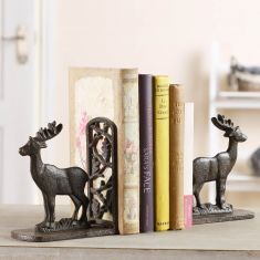 Pair of Cast Iron Stag Bookends