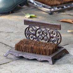 Period Style Ornate Boot Brush and Scraper