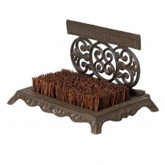 Period Style Ornate Boot Brush and Scraper