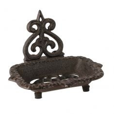 Fleur de Lys Cast Iron Kitchen Soap Dish