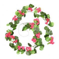 Deep Pink Geranium Summer Floral Garland
